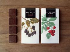 Schwarzwald #chocolate #package #berries #botanical