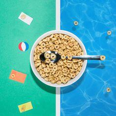 social content, cheerios, poolside