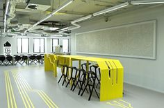 Studio 1:1 Designs Splashes Color Into A New ICT Center | #interior #design