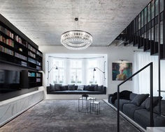 OOOOX Turns Two Apartments into a Single Spacious Home - InteriorZine