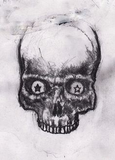 Sketch file Part I on the Behance Network #draw drawing skull