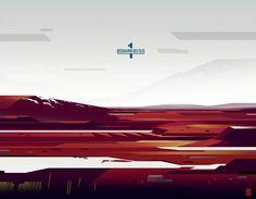 Aswad Theory #illustration #red #romaintrystram #landscape