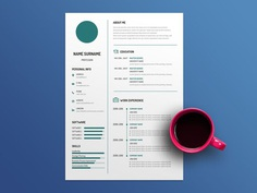 Free White Simple Resume Template