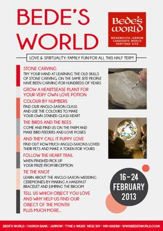 Bede's World #events #museum #flyer #design #graphic #world #exhibition #lectures #bedes #promotion #leaflet