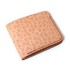 Natural Veg Tan | Teranishi #natural #stamped #leather #wallet