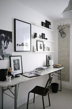 Vosgesparis: How to make a personal studio {IKEA blogpost} #design #workspace #studio #interior #black and white