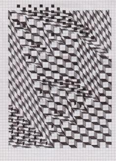 V.Timofeev log /// viktortimofeev.com #drawing #cubes
