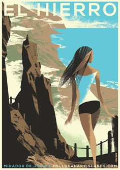 Canary Islands tourism illustrations