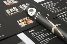 Art of the Menu: Kuro #layout #menu