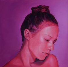 Jen Mann | PICDIT #color #portrait #purple #painting #art