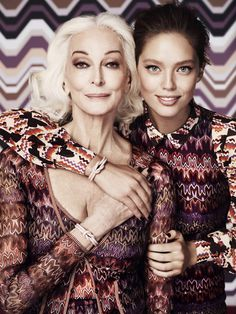 Carmen Dell'Orefice & Emily Didonato for Missoni for Lindex Fall Winter #model #girl #campaign #lindex #photography #fashion