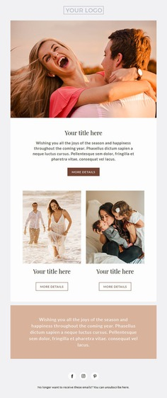 Session email newsletter template for photographers Mailchimp image 1