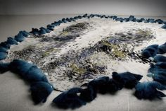 TALKING TEXTILES #blue #natural #cowskin #dotted
