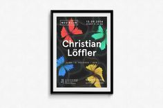 Neu Klub / Christian Löffler Poster #butterflies #butterfly #colors #poster #music #rainbow #party