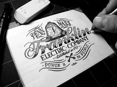 Franklin Electric Company by Jason Carne #lettering #handdrawn #logo #type #typography