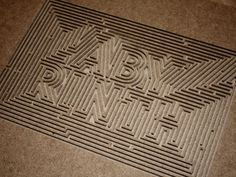 Labyrinth #type #maze #labyrinth #typography