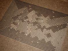 Labyrinth #type #maze #labyrinth #typography