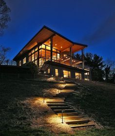 Green House Overlooking the Chesapeake Bay Designed by Gardner Mohr Architects #architecture