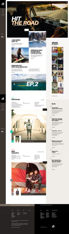 Web | Reef Concept on Behance #clean #typographic