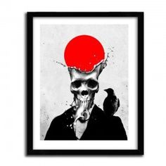 SPLASH SKULL by ALI GULEC #print