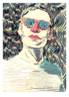 Portraits. on Behance #illustrated #illustration #portrait #man #drawing #psychadelic