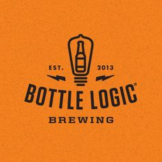 logo, beer, bottle, bulb, yellow, black, electric, sans serif