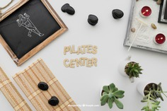 Pilates composition Free Psd. See more inspiration related to Mockup, Spa, Health, Cute, Yoga, Chalkboard, Mock up, Plant, Decoration, Drawing, Cactus, Bamboo, Healthy, Decorative, Peace, Lettering, Mind, Balance, Draw, Relax, Pot, Meditation, Pilates, Wellness, Healthy lifestyle, Candles, Lifestyle, Up, Tablecloth, Stones, Relaxation, Composition, Mock, Peaceful, Pose, Yoga pose and Inner on Freepik.