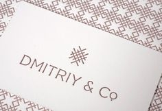 Dmitriy & Co. : Lovely Stationery . Curating the very best of stationery design #logo #print #branding