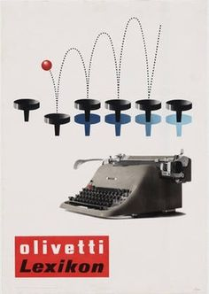 MoMA | The Collection | Giovanni Pintori. Olivetti Lexikon. 1954 #1954 #giovanni #olivetti #advertisement #lithograph #pintori