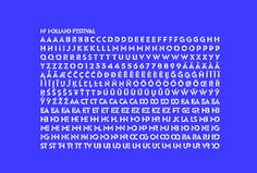 Holland Festival by Thonik #font #typography #typeface