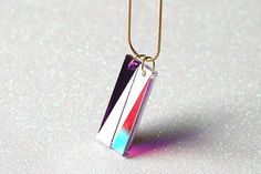 Double Prism by starsandspace on Etsy #space #jewelry #art #triangles #prism