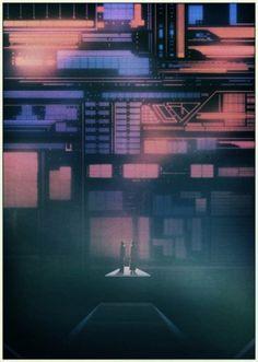 KILIAN ENG / DW DESIGN #futuristic #retro #geometric #scifi #glow #kilian #eng