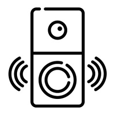 See more icon inspiration related to camera, alert, smart, doorbell, surveillance, electronics, view, security and technology on Flaticon.