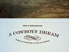 A Cowboy's Dream : Lovely Stationery . Curating the very best of stationery design #kuro #a #stationary #cowboys #dream
