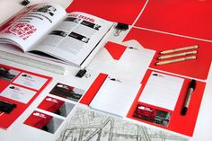 CUBE ARCHITECTS - corporate identity on the Behance Network #red #branding #design #warm #architecture #identity