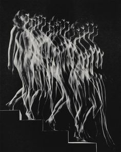 Gjon Mili | Nude Descending Staircase (Variant) (1942), Available for Sale | Artsy #blackwhite
