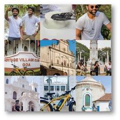 Riding through the whites of Goa will make you feel like you are on a movie set. Some movie stars feel that way too. #letsblive #funoverfuel #oldgoa #northgoatrails #fun #ev #ecotourism #eco #tours #ebikes #discovery #goavibes 🌴 #goatourism #goaindiatravel #travel #instatravel #instagoa #wanderlust #navratri #navratriwear #shadesofBLive