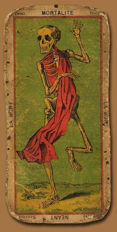 Death Tarot Card #tarot #card #skeleton #death