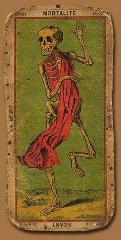 Death Tarot Card #tarot #card #skeleton #death