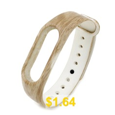Silicone #Watch #Strap #for #Xiaomi #Miband #2 #- #WOOD #COLOR