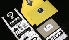 Graduation Invitations : Faye & Co #blackyellow #sarah #invites #mick
