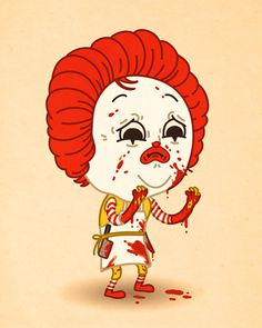 Just like us - Mike Mitchell #mcdonald #mike #mitchell #illustration #ronald