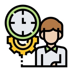 See more icon inspiration related to work, timer, worker, gear, cog, manage, business and finances, time and date, professions and jobs, appointment, reunion, schedule, meeting, user, cogwheel, people and clock on Flaticon.