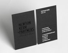 Newton Kerr + Partners Brand Strategy & Identity on Branding Served #card #business