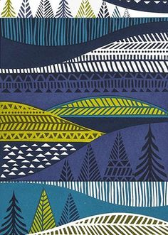 Sanna Annukka #sanna annukka #pattern #graphic #landscape
