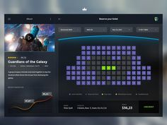 Cinema App #flat #movie #seat #account #interface #ui #app #cinema #checkout #chart