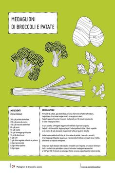 09 | Medaglioni di broccoli e patate by no zone, via Flickr #cooking #calendar #design #food #illustration #photography #calendars