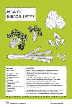 09   Medaglioni di broccoli e patate by no zone, via Flickr #cooking #2013 #calendar #design #food #illustration #photography #calendars