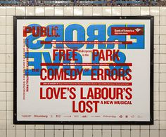 Poster installed in the subway. #scher #paula #design #graphic #typography