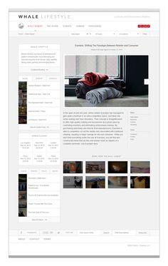 Elevn Co. / Whale Lifestyle Website #development #design #minimalism #clean #website #grid #simple #web